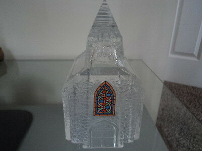 Heavy Glass Church Figurine