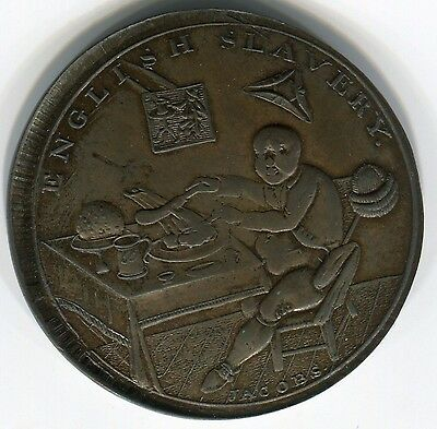 England, Middlesex: Fat Englishman Eating vs French eating a bone, D&H760 rare