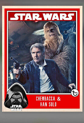 Topps Star Wars Card Trader Prime Wave 2  Week 2 Chewbacca & Han Solo Insert
