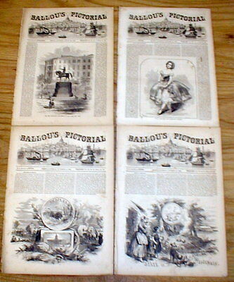 7 1856 illustrated newspapers GLEASON'S PICTORIAL views of the US pre Civil War