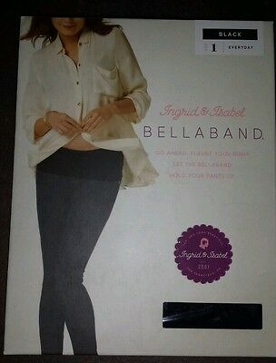 BellaBand Women's New Everyday Ingrid & Isabel Black size 1 with silicon strip