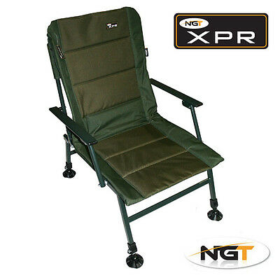 NEW NGT XPR Carp Coarse Fishing Chair with Arm Rests Adjustable legs & Mud Feet