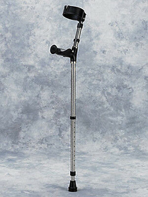 Walk Easy Forearm Crutches Adult with Ergonomic Grip Height Adj with Full Cuff