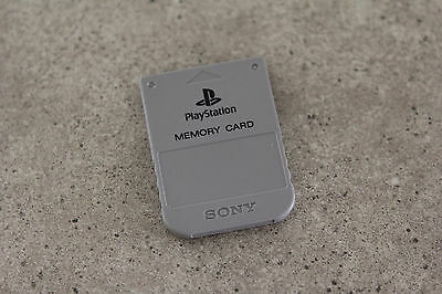 Sony Playstation 1 PS1 Genuine Memory Card (SCPH-1020) Grey
