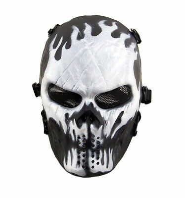 Paintball Airsoft Skull Mask Tactical Full Face Protection
