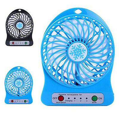 Portable Rechargeable Air Cooler USB 18650 Battery Powered Desk Fan Stunning