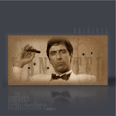 efb34aef9a8 SCARFACE TONY MONTANA MOST WANTED VINTAGE COLLECTION XXL CANVAS ART Art  Williams