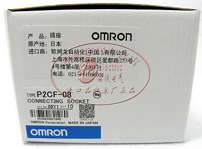 10Pcs New Omron Round 8Pin Connecting Socket P2CF-08 for H3CR-08