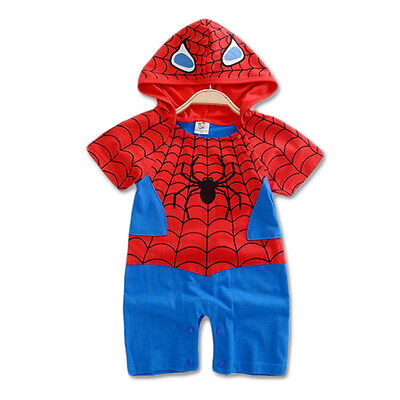Baby Boy Spiderman Costume Halloween Outfit Romper Superman 00,0,1,2