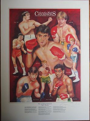 Australian Boxing World Champions Print From The Original Signed By The Artist