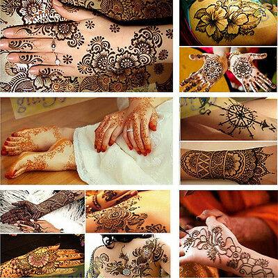 India Henna Temporary Tattoo Stencils For Hand Leg Arm Feet Body Art Decals DIY