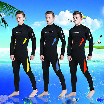 Sunscreen Warm 3mm Wetsuit Men Spearfishing Surfing Diving Swimming Jumpsuit