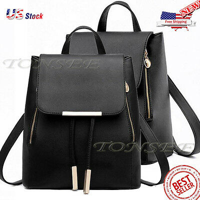 Vintage Women's Backpack Travel Leather Handbag Rucksack Shoulder School Bag USA