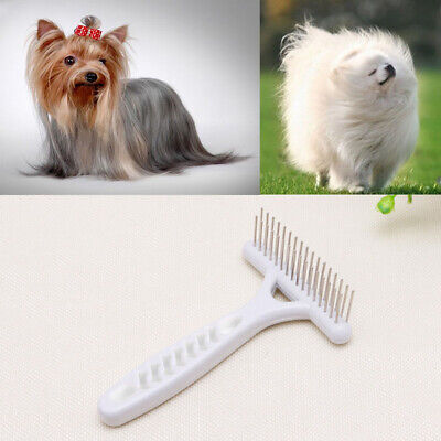 Pet Cat Dog Long Short Thick Hair Fur Shedding Remove Grooming Comb Brush Rake
