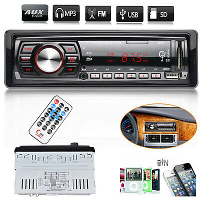 Car Stereo Audio In-Dash FM Aux Input Receiver SD USB MP3 WMA Music Radio Player