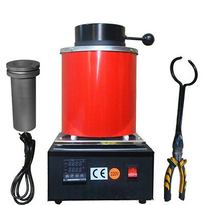Mini Automatic Jewelry Melting Furnace,Melt Scrap Silver&Gold Pour Bar 1-2kg