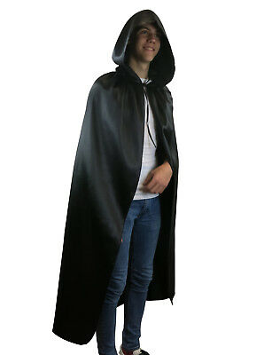 Fancy Dress Hooded Cape Long Vampire Cloak Halloween Party Pagan Costume