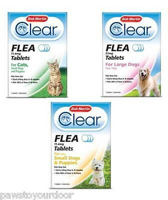 Bob Martin Clear Flea Tablets Dogs, Cats, Puppy Fast Easy Flea Treatment