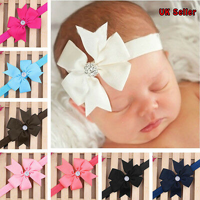 Cute Newborn Baby Girls Bow Headband Infant Headband Accessories (UK Seller )