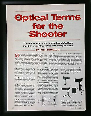 1988 Optical Terms For a Shooter 5-Page Article