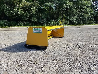 6' Low Pro pullback snow pusher FREE SHIPPING skidsteer Bobcat Case Caterpillar