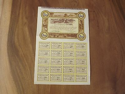 Antique Share Certificate  Solar Energy Spain 1932 Maybe 80 Years Early