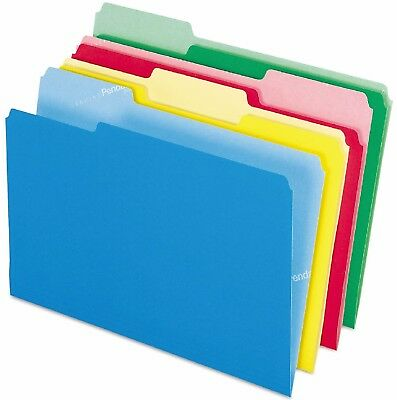 Pendaflex 1/3 Tab CutLess File Folders Assorted Colors Letter 100 ct Softer Edge