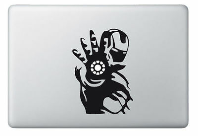 "Ironman vinyl sticker Mac Book/Air/Retina laptop decal 11 13 15 17"" Avengers"