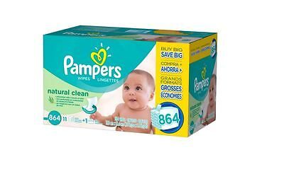 Pampers Natural Clean Baby Wipes 864ct