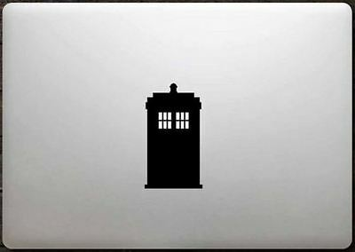 Doctor Who Tardis vinyl sticker Mac Book/Air/Retina laptop decal 11 13 15 17""