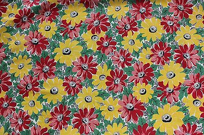 "Vintage c1930-1940 Cotton Printed Floral Fabric~4yds 17""L X 35""W~Quilts & Sewing"