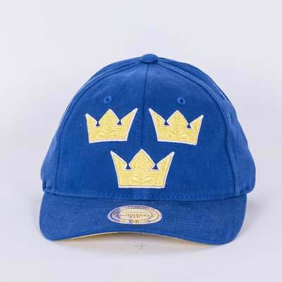 Mitchell & Ness World Cup Of Hockey Team Sweden Blue Adjustable Backstrap Cap
