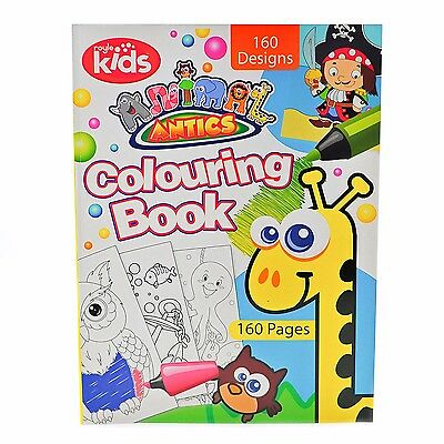 Jumbo Activity Animal Colouring Book Kids Fun Gift Pack - 160 Page
