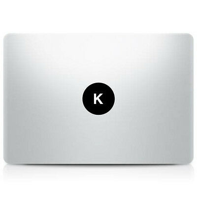 Alphabet letter 'K' Macbook Sticker Laptop Decal Mac Pro Air Retina 11 13 15 17""