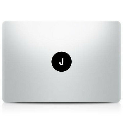 "Alphabet letter ""J"" Macbook Sticker Laptop Decal Mac Pro Air Retina 11 13 15 17"""