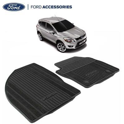 Genuine Ford Kuga MK 1 Front Contour Floor Mat Carpet Set Black Rubber 1785004