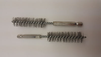 """2 PC 5/8"""" Wire Tube Brush Cleaning Gun Weld Clean De Burr Stainless Steel"""