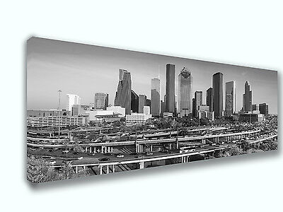 Houston Texas City Skyline Panoramic 4 Canvas Print Art Home Decor Wall