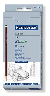 Staedtler Tradition 110 Artists Quality Graded Pencils For Sketching & Drawing