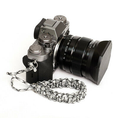 Grey Camo Paracord Wrist Strap for DSLR Compact Mirrorless Sony Fuji Samsung