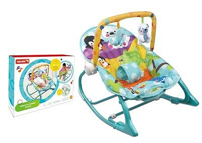 Baby Bouncer Rocker Reclining Chair Soothing Music Vibration, Toys, Girl / Boys
