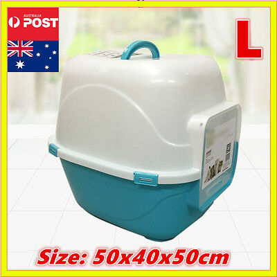 New L Cat Pet Toilet Litter Box Tray Portable Hooded House Handle Scoop Carrier