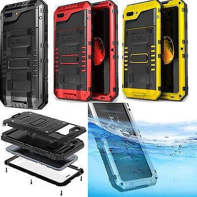 Luphie Waterproof Shock proof Armor Gorilla Glass Case Cover for iPhone 7 7 Plus