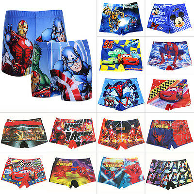 Boys Spiderman Swimming Trunks Swim Shorts Character Aged 2 3 4 5 6 7 9 10 Years