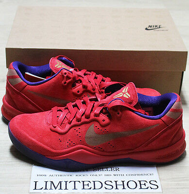 NIKE ZOOM KOBE 8 EXT YEAR OF THE SNAKE RED PURPLE 582554-600 US 10 ... 439d96c85