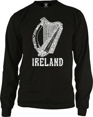 Ireland Symbol Irish Distressed Country Born From Harp IRL IE Am Girls Tank Top