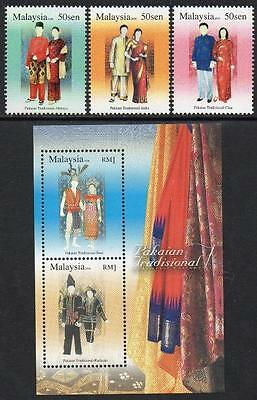 MALAYSIA MNH 2006 Traditional Costumes Stamps + Minisheet
