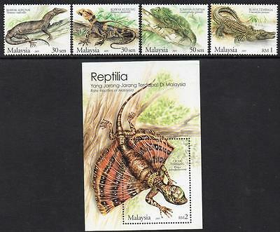 MALAYSIA MNH 2005  Endangered Reptiles Stamps + Minisheet