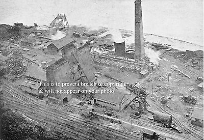 Photo Dover Colliery At Shakespeare Cliff. South Eastern Main Line In Foreground