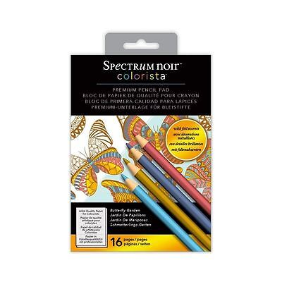 Spectrum Noir - Colorista 5x7 Foil Butterfly Garden Pencil Colouring Paper Pad